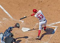 9 July 2017: Washington Nationals pitcher Matt Grace connects at bat against the Atlanta Braves at Nationals Park in Washington, DC. The Nationals defeated the Atlanta Braves to split their 4-game series going into the All-Star break. Mandatory Credit: Ed Wolfstein Photo *** RAW (NEF) Image File Available ***
