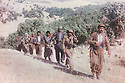 Iraq 1989 .In front Mahmoud Sangawy with his peshmergas in Suren near Ahmed Awa at the border of Iran , on june 23rd .Irak 1989 .Devant Mahmoud Sangawy avec ses peshmergas a Suren, derriere Ahmed  Dawa a la frontiere iranienne, le 23 juin