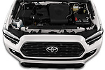 Car Stock 2020 Toyota Tacoma TRD-Off-Road 4 Door Pick-up Engine  high angle detail view