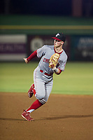 AZL Reds second baseman Cash Case (4) on defense against the AZL Giants on August 12, 2017 at Scottsdale Stadium in Scottsdale, Arizona. AZL Giants defeated the AZL Reds 1-0. (Zachary Lucy/Four Seam Images)