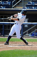 Staten Island Yankees outfielder Taylor Dugas (59) during game against the Aberdeen Ironbirds at Richmond County Bank Ballpark at St.George on July 18, 2012 in Staten Island, NY.  Staten Island defeated Aberdeen 3-2.  Tomasso DeRosa/Four Seam Images