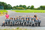 Dromclough NS: M/S Doyle's, right back,  junior infants class on their first day at school at Dromclough NS, Listowel with M/ Ann Carmody.