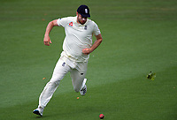 England's Dom Sibley chases a ball in the outfield during day five of the international cricket 2nd test match between NZ Black Caps and England at Seddon Park in Hamilton, New Zealand on Tuesday, 3 December 2019. Photo: Dave Lintott / lintottphoto.co.nz