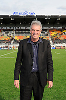 20130216 Copyright onEdition 2013©.Free for editorial use image, please credit: onEdition..Saracens chairman Nigel Wray stands in front of the new East Stand before the Premiership Rugby match between Saracens and Exeter Chiefs at Allianz Park on Saturday 16th February 2013 (Photo by Rob Munro)..For press contacts contact: Sam Feasey at brandRapport on M: +44 (0)7717 757114 E: SFeasey@brand-rapport.com..If you require a higher resolution image or you have any other onEdition photographic enquiries, please contact onEdition on 0845 900 2 900 or email info@onEdition.com.This image is copyright onEdition 2013©..This image has been supplied by onEdition and must be credited onEdition. The author is asserting his full Moral rights in relation to the publication of this image. Rights for onward transmission of any image or file is not granted or implied. Changing or deleting Copyright information is illegal as specified in the Copyright, Design and Patents Act 1988. If you are in any way unsure of your right to publish this image please contact onEdition on 0845 900 2 900 or email info@onEdition.com