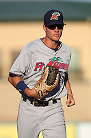 Fort Myers Miracle Steve Liddle #23 during a game against the Palm Beach Cardinals at Roger Dean Stadium on June 21, 2011 in Jupiter, Florida.  Palm Beach defeated Fort Myers 5-0.  (Mike Janes/Four Seam Images)