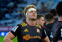 Sam Cane reflects on the loss after the Super Rugby Aotearoa match between the Blues and Chiefs at Eden Park in Auckland, New Zealand on Sunday, 26 July 2020. Photo: Dave Lintott / lintottphoto.co.nz