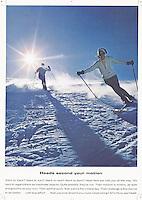 Head Ski print ad, 1966. Photo by John G. Zimmerman.