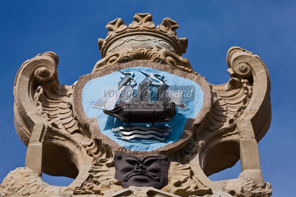 Europe/Espagne/Pays Basque/Saint-Sébastien: La basilique Santa María est une impressionnante œuvre baroque du XVIIIe siècle, qui domine la rue Mayor, au cœur de la Vieille ville de Saint-Sébastien.