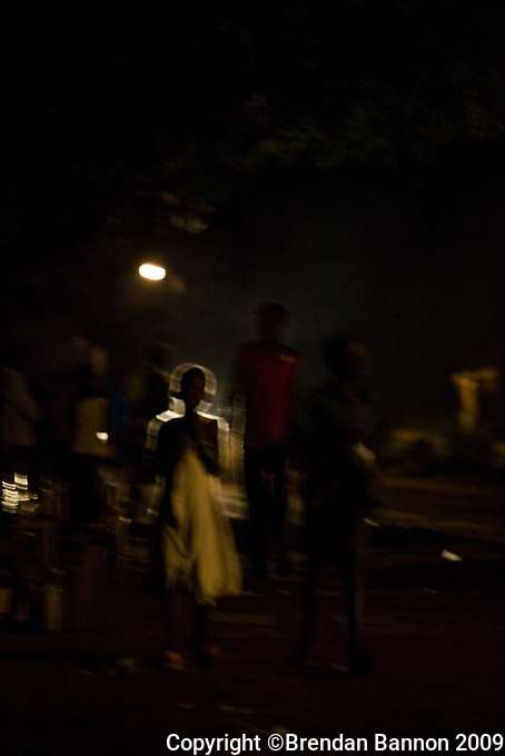 Night scene in Yei, South Sudan.
