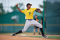 Pittsburgh Pirates pitcher Francis Del Orbe (37) delivers a pitch during an Instructional League intrasquad black and gold game on September 28, 2017 at Pirate City in Bradenton, Florida.  (Mike Janes/Four Seam Images)