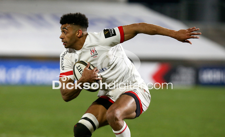 19th March 2021;   Robert Baloucoune during the final round of the Guinness PRO14 against Zebre Rugby held at Kingspan Stadium, Ravenhill Park, Belfast, Northern Ireland. Photo by John Dickson/Dicksondigital