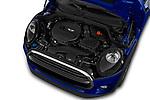 Car Stock 2019 MINI Hardtop-4-Door Cooper-Signature 5 Door Hatchback Engine  high angle detail view