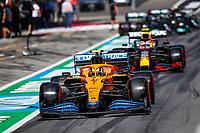July 3rd 2021; F1 Grand Prix of Austria, qualifying sessions;  04 NORRIS Lando (gbr), McLaren MCL35M, PEREZ Sergio (mex), Red Bull Racing Honda RB16B during the  2021 Austrian Grand Prix, 9th round of the 2021 FIA Formula One World Championship