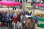 October 3, 2015:  Nickname with Javier Castellano win the Grade I Frizette Stakes for 2-year old fillies, going 1 mile at Belmont Park.  Trainer Steve Asmussen. Owner FNJ Foxwoods. Sue Kawczynski/ESW/CSM