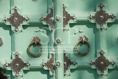 Jodhpur, India. detail of door at the Jaswant Thada mausoleum.