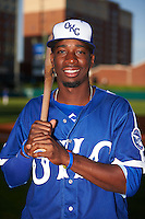 Oklahoma City Dodgers second baseman Darnell Sweeney (9) poses for a photo before a game against the Fresno Grizzles on June 1, 2015 at Chickasaw Bricktown Ballpark in Oklahoma City, Oklahoma.  Fresno defeated Oklahoma City 14-1.  (Mike Janes/Four Seam Images)