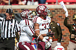 Texas A&M Aggies linebacker Shaan Washington (33) in action during the game between the Texas A&M Aggies and the SMU Mustangs at the Gerald J. Ford Stadium in Fort Worth, Texas. A&M leads SMU 38 to 3 at halftime.