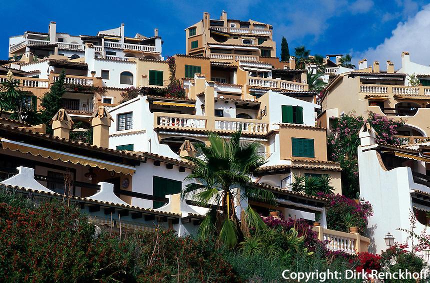 Spanien, Mallorca, Siedlung Aldea Cala Fornells in Peguera