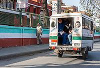 "Nepal, Patan.  ""Tuk tuk"" Taxi, a Three-wheeled Vehicle."