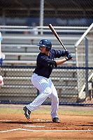 New York Yankees Wilkerman Garcia (5) at bat during a minor league Spring Training game against the Detroit Tigers on March 22, 2017 at the Yankees Complex in Tampa, Florida.  (Mike Janes/Four Seam Images)