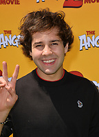 """LOS ANGELES, USA. August 10, 2019: David Dobrik at the premiere of """"The Angry Birds Movie 2"""" at the Regency Village Theatre.<br /> Picture: Paul Smith/Featureflash"""