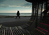 Part of a seating system on Littlehampton Sea Front, West Sussex.<br /> <br /> Stock Photo by Paddy Bergin