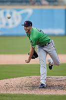 Gwinnett Stripers relief pitcher Mitch Horacek (59) in action against the Charlotte Knights at Truist Field on May 9, 2021 in Charlotte, North Carolina. (Brian Westerholt/Four Seam Images)