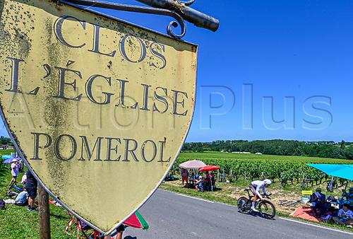 17th July 2021, St Emilian, Bordeaux, France;   during stage 20 of the 108th edition of the 2021 Tour de France cycling race, an individual time trial stage of 30,8 kms between Libourne and Saint-Emilion.