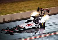 Jul 20, 2019; Morrison, CO, USA; NHRA top fuel driver Steve Torrence during qualifying for the Mile High Nationals at Bandimere Speedway. Mandatory Credit: Mark J. Rebilas-USA TODAY Sports