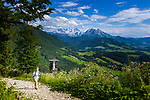 Oesterreich, Salzburger Land,  bei Abtenau: Wandergebiet Postalm, Oesterreichs groesstes Almengebiet   Austria, Salzburger Land, near Abtenau: Postalm hiking region, Austria's largest alpine pasture