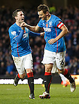 Lee McCulloch celebrates his penalty with Nicky Clark