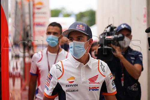 25th Septmeber 2020, Circuit de Barcelona, Catalunya, Spain; MotoGp of Catalunya, Free practise sessions;  93 Marc Marquez Repsol Honda HRC Honda Racing Corporation