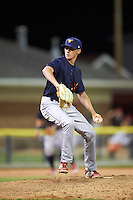 State College Spikes relief pitcher Brady Bowen (13) delivers a pitch during a game against the Batavia Muckdogs on June 22, 2016 at Dwyer Stadium in Batavia, New York.  State College defeated Batavia 11-1.  (Mike Janes/Four Seam Images)
