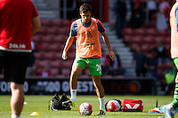 Jack Cork warming up during the Barclays Premier League match between Southampton v Swansea City played at St Mary's Stadium, Southampton