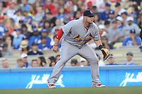 05/20/12 Los Angeles, CA: St. Louis Cardinals first baseman Matt Adams #53 during an MLB game between the St Louis Cardinals and the Los Angeles Dodgers played at Dodger Stadium. The Dodgers defeated the Cardinals 6-5.