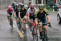 Christopher Juul-Jensen (DEN/Mitchelton-Scott) leading the breakaway group<br /> <br /> Stage 4: Gansingen > Gstaad (189km)<br /> 82nd Tour de Suisse 2018 (2.UWT)