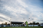 Harwich & Parkeston 2 Barnston 0, 11/11/2017. Royal Oak Ground, Andreas Carter Essex & Suffolk Border League Premier Division. Harwich & Parkeston reached the final of the Amateur Cup in 1953 at Wembley Stadium and played in front of a crowd of 100,000. <br /> The Barnston goalkeeper with a free kick. Photo by Simon Gill.