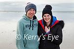 Johnny and Grace Dillane enjoying a stroll on the beach in Ballyheigue on Sunday.