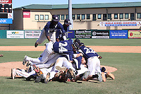 East Cobb Baseball wins the WWBA World Championship 2012 at the Roger Dean Complex on October 29, 2012 in Jupiter, Florida. (Stacy Jo Grant/Four Seam Images)
