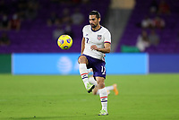 ORLANDO CITY, FL - JANUARY 31: Sebastian Lletget #17 of the United States moves with the ball during a game between Trinidad and Tobago and USMNT at Exploria stadium on January 31, 2021 in Orlando City, Florida.