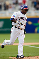 7 March 2009: #10 Miguel Tejada of the Dominican Republic runs the bases after his solo home run during the 2009 World Baseball Classic Pool D match at Hiram Bithorn Stadium in San Juan, Puerto Rico. Netherlands pulled off a huge upset in their World Baseball Classic opener with a 3-2 victory over Dominican Republic.