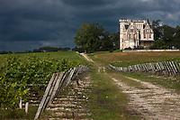 Europe/France/Aquitaine/33/Gironde/Cussac-Fort-Médoc: Château Lanessan de style Néo-Tudor et son vignoble