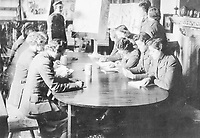 BNPS.co.uk (01202 558833)<br /> Pic: Pen&Sword/BNPS<br /> <br /> PICTURED: A lecture in progress; it may have been anything from encryption to recognition of arms.<br /> <br /> These inspiring photos of nurses on the front line feature in a new book which charts a century's heroic wartime service.<br /> <br /> The First Aid Nursing Yeomanry (FANY) was founded in 1907 by Captain Edward Baker with the early recruits trained in cavalry, signalling and camping.<br /> <br /> They were despatched to France at the outset for World War One to tend to injured troops on the battlefield, setting up hospitals for the many casualties. Other heroines dragged wounded personnel from exploding ammunition dumps.<br /> <br /> The brave nurses were again in the centre of the action in World War Two, performing sterling work in the harshest of conditions.<br /> <br /> Their stories feature in The First Aid Nursing Yeomanry in War and Peace, by Hugh Popham.