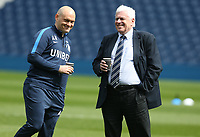 Preston North End Chirman Peter Ridsdale and manager Alex Neil chat together before the kick-off<br /> <br /> Photographer Stephen White/CameraSport<br /> <br /> The EFL Sky Bet Championship - West Bromwich Albion v Preston North End - Saturday 13th April 2019 - The Hawthorns - West Bromwich<br /> <br /> World Copyright © 2019 CameraSport. All rights reserved. 43 Linden Ave. Countesthorpe. Leicester. England. LE8 5PG - Tel: +44 (0) 116 277 4147 - admin@camerasport.com - www.camerasport.com