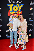 "LOS ANGELES, USA. June 12, 2019: Jimmy Kimmel, Molly McNearney & Family at the world premiere of ""Toy Story 4"" at the El Capitan Theatre.<br /> Picture: Paul Smith/Featureflash"