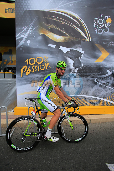 Fabio Sabatini (ITA) Cannondale at sign on before Stage 5 of the 100th Edition of the Tour de France 2013 from Cagnes-Sur-Mer to Marseille. 3rd July 2013.<br /> (Photo: Eoin Clarke/ www.newsfile.ie)
