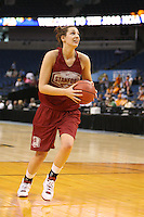 5 April 2008: Stanford Cardinal Ashley Cimino during Stanford's 2008 NCAA Division I Women's Basketball Final Four open practice at the St. Pete Times Forum Arena in Tampa Bay, FL.