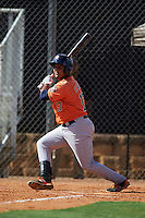 Houston Astros Ruben Castro (17) during an instructional league game against the Atlanta Braves on October 1, 2015 at the Osceola County Complex in Kissimmee, Florida.  (Mike Janes/Four Seam Images)