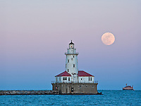 Lighthouse at the end of Navy Pier Chicago, Illinois.