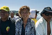 Mato Grosso State, Brazil. Aldeia Metuktire. Sue Cunningham and Waiwai Txucaramae and Paulo Juruna.